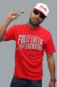 Fully Laced – The Fully Laced Sneakers Tee (Red/Ele)
