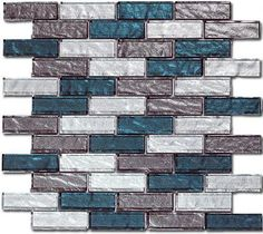 Bella Glass Tiles x Impression Series Rushing River Glass Mosaic Tile Backsplash, Install Backsplash, Mosaic Bathroom, Glass Subway Tile, Kitchen Backsplash, Mosaic Glass, Glass Tiles, Backsplash Ideas, Tile Ideas