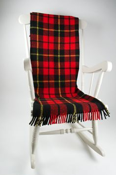 Cambrian Mill Red and Black over check by 365daysofvintage on Etsy, £80.00