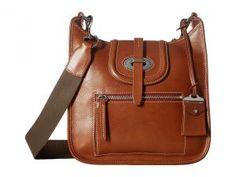 Dooney & Bourke Florentine Small Front Zip Crossbody (Ginger/Self Trim) Cross Body Handbags