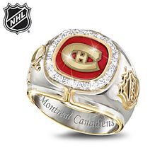 Shop The Bradford Exchange for Montreal Canadiens® Diamond Ring. With an astounding 24 Stanley Cup® wins over their history, the Montreal Canadiens® have set the standard for excellence and thrilled their fans from the days of the Original. Pens Hockey, Hockey Memes, Funny Hockey, Hockey Stuff, Montreal Canadiens, Stanley Cup Rings, Awsome Pictures, Super Bowl Rings, Wayne Gretzky