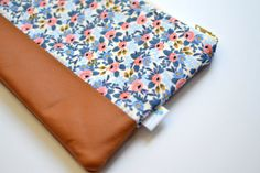 Le Fleur Fabric Clutch Light Blue Floral by DaisyFayeDesigns