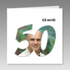 Einladungskarte 50. Geburtstag mit eigenem Foto