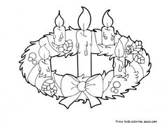 Advent-Wreath-And-Candles-Coloring-Page