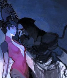 오버워치!★양흑미 (LEmon89H) | Twitter. #Overwatch #Widowmaker #Reaper