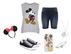 """Mickey Mouse!"" by kittykate29 on Polyvore featuring Topshop, Silver Jeans Co., Converse, Disney and Casetify"