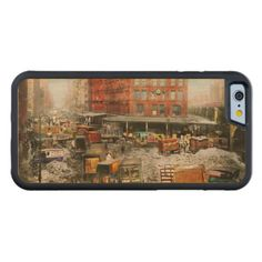 City - New York NY - Stuck in a rut 1920 Carved Maple iPhone 6 Bumper Case