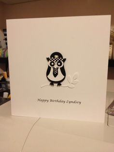 My latest owl card - order your stampin up punches from me