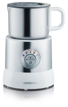 Severin 700 ml 500 Watts Induction Electric Milk Frother with Variable Temperature Control, White