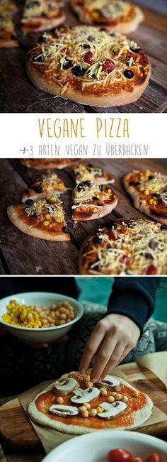 Vegane Pizza und drei Arten Vegan zu überbacken. Super lecker...