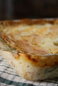 Old Fashioned, Rich Chicken Pot Pie: a warm, comforting dish perfect for taking to a potluck gathering.