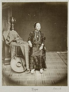 Portrait of a Vietnamese woman sitting 1888