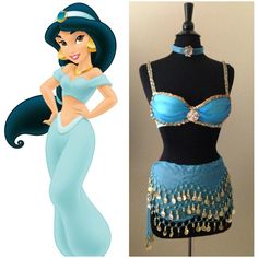 2a187517ec Disney s Princess Jasmine Inspired Costume Rave Outfit Bra and Skirt (110  AUD)