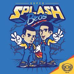 Warriors 'Super Splash Bros.' Art - Hooped Up