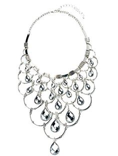 Tagoo Tribal Queen Pendant Statement Necklace SilverTone Crystal Retro Style >>> Want to know more, click on the image.(This is an Amazon affiliate link and I receive a commission for the sales)