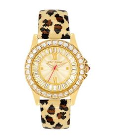 Women's Wrist Watches - Betsey Johnson Womens BJ0000402 Analog Leopard Printed Strap Watch >>> Want to know more, click on the image.