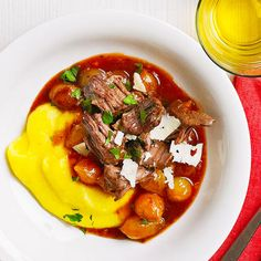 Shake up Christmas dinner with a meal the family will love. Balsamic roast beef grows tender after spending a day in the slow cooker: http://www.bhg.com/christmas/dinner/roast-beef/?socsrc=bhgpin112314balsamicbeefroastwithpolenta&page=5