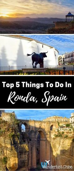 Top 5 Things To Do In Ronda, Spain. Ronda is a magical city built across the deep El Tajo gorge. It has more beauty, charm and history than many cities put together.