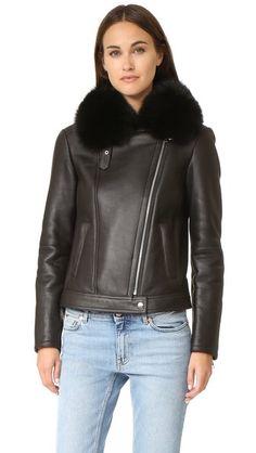 Theory Pomono Leather Jacket LOL WISHFUL THINKING PLEASE BUY ME THIS