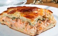 Быстрый пирог с рыбой