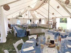 Dusty Blue Farm Tent Wedding Tent Wedding, Farm Wedding, Wedding Events, Weddings, June 24, Event Photos, Dusty Blue, Table Decorations, Green