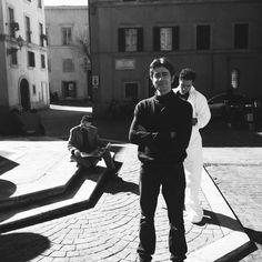 Giovanni Scifoni. On set.