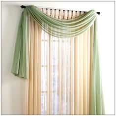 Swag Window Treatment Ideas | Window Scarves Scarf Valance | Window treatment, blinds and window ...