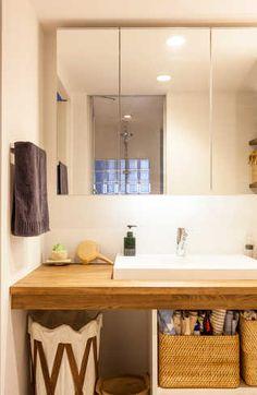 洗面所6 Laundry Room Bathroom, Bathroom Toilets, Washroom, 1 Bedroom Apartment, Interior Decorating, Interior Design, Decoration, Storage Spaces, Ideal Home