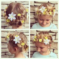 #updo #hairstyles #flowersinherhair