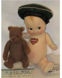 Kind-Hearted R Manufactured John Wright 2000 Millennium Kewpie Coa And Tag Reads 119 Of 500