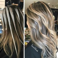 Are you ready to get to know the new hair coloring technique Lay Layage? When the trends of 2016 began to emerge, hair color trends were formed. The latest hair. Ombre Hair Color, Hair Color Balayage, Hair Highlights, Bayalage, How To Balyage Hair, How To Ombre Hair, Redken Hair Color, White Highlights, Haircolor