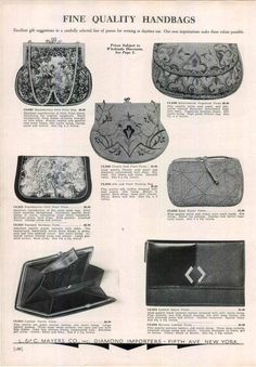 1934 AD Quality Handbags Purse Petit Point Bead French Seed Pearl Embossed Bag