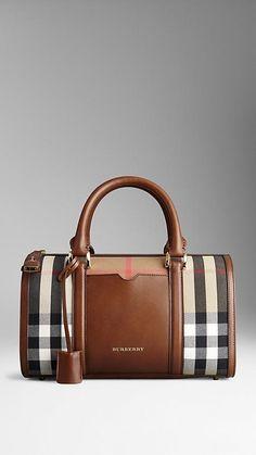 Bowling bag média elegante em House Check | Burberry
