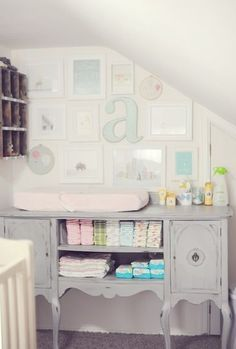 paint an old buffet table for baby room