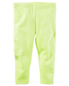 Kid Girl Neon Capri Leggings from Carters.com. Shop clothing & accessories from a trusted name in kids, toddlers, and baby clothes.
