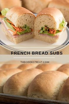 French Bread Subs Beautiful French bread subs/sandwich rolls. Light and delicious and perfect for picnics. These French bread subs are easy to make in under an hour. Sub Sandwich Bread Recipe, Sandwich Recipes, Sub Rolls, Easy Bread Recipes, Bread Rolls, Dinner Rolls, Picnics, Breads, Sandwiches