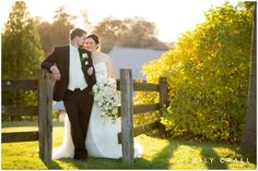 Fall wedding on the family farm - bride & groom photos