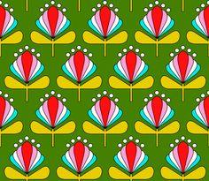 kinder m dchen stoff stoffdesign illustration retro bl mchen blumen flower power muster 60er. Black Bedroom Furniture Sets. Home Design Ideas