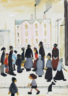 Group Of People, 1959, LS Lowry.