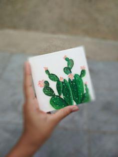Cactus acrylic painting on mini canvas