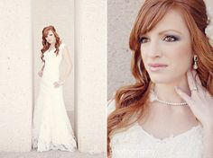 gorgeous red headed bride!