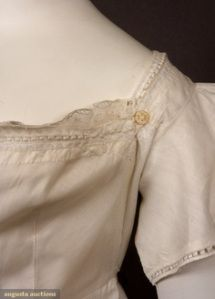 Threading Through Time -- Falling for the Regency Bib-Front Gown (video on how to don one.) Note: bib-front gowns were not breast-feeding gowns but fashionable in their own right.
