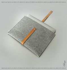 Macbook Air sleeve Macbook Air felt case leather by FERUTOBags