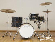 Bonney Drum Japa 16in Bass drum set [Ant Black]