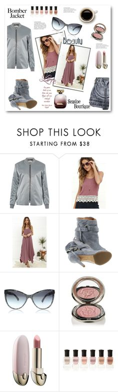 """SB & BJ"" by stranjakivana ❤ liked on Polyvore featuring Acne Studios, Maison Margiela, Nina Ricci, Chantecaille, Guerlain, Deborah Lippmann, women's clothing, women, female and woman"
