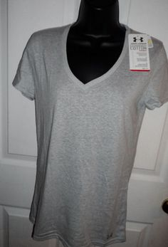 New Womens Under Armour Charged Cotton Undeniable T-shirt Top  Medium Heatgear  #UnderArmour #ShirtsTops