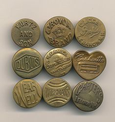 Antique Workwear Vintage Clothes Buttons