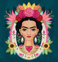 Another Frida piece. 🌹 I love seeing my progress on these portraits. I'm just loving my and of course my muse. Frida Kahlo Artwork, Kahlo Paintings, Frida Art, Frida Kahlo Cartoon, Mexican Folk Art, Beauty Art, Love Art, Oeuvre D'art, Art Inspo