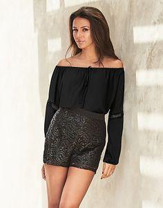 e7422557663ec Womens black love michelle keegan bardot blouse from Lipsy - £35 at  ClothingByColour.com