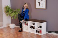 Szafka na buty Modro z siedziskiem Entryway Bench, Shoe Rack, Storage, Furniture, Home Decor, Entry Bench, Purse Storage, Hall Bench, Decoration Home